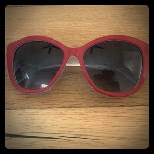 100% Authentic Dolce&Gabbana Red Rimed Sunglasses